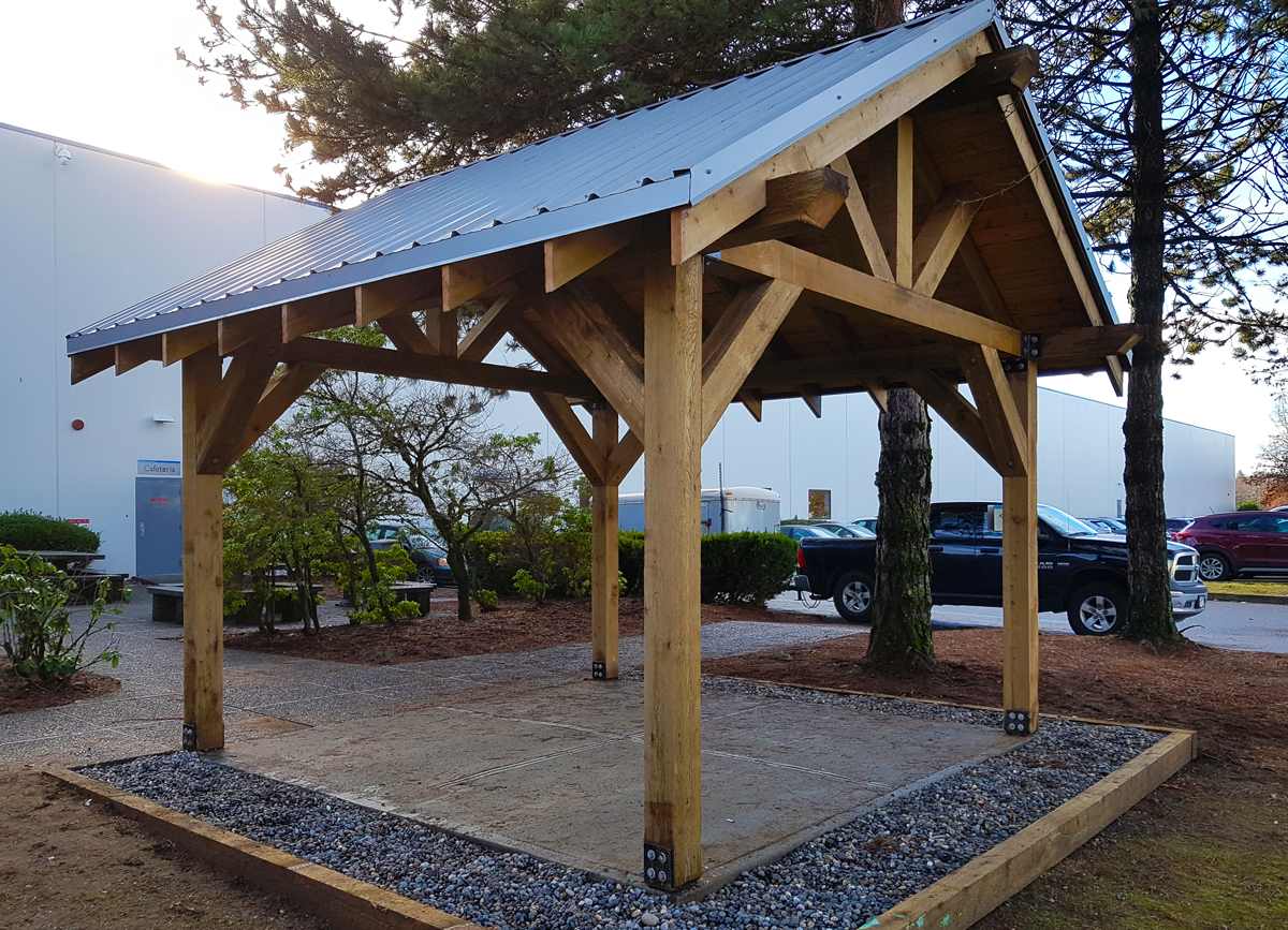 WhalleyWorks Landscape Carpentry Timber Awning