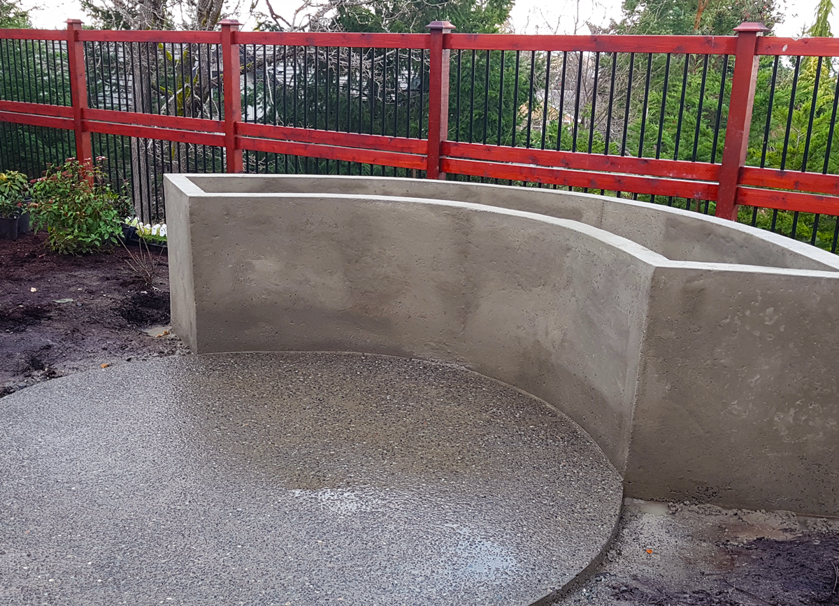 Concrete Formwork for Backyard Features