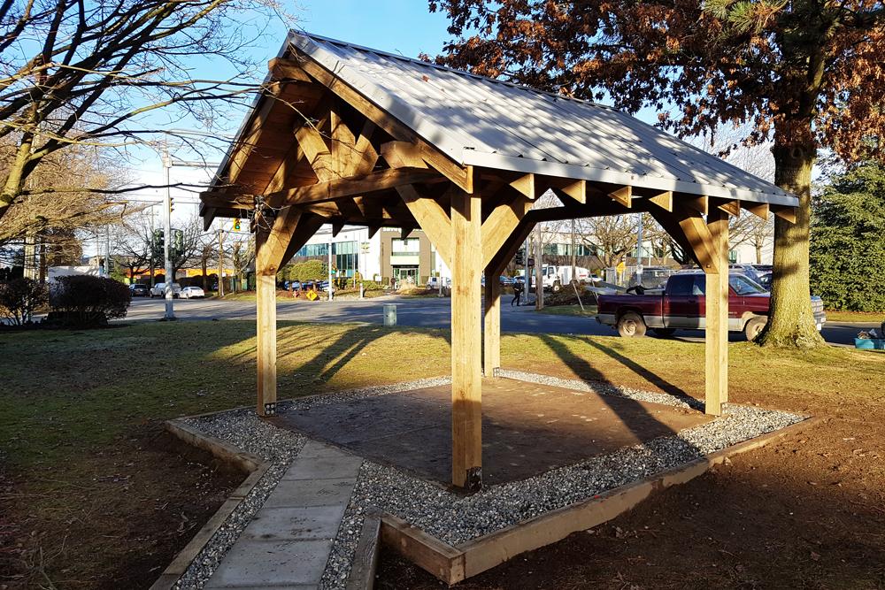 Landscape Wood Construction in Recreation Area