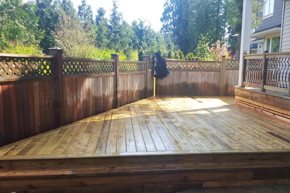 Pressure Treated Deck Installation.
